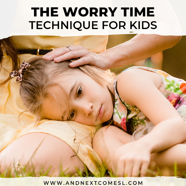 Worry time technique for kids