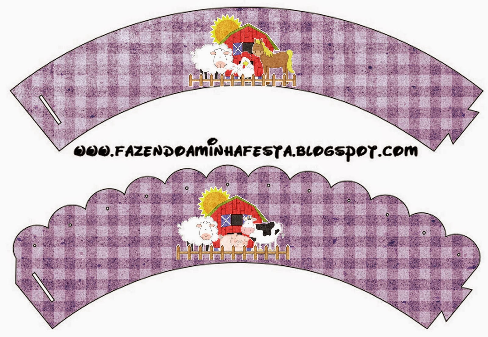 The Farm in Purple: Free Printable Cupcake Wrappers and Toppers.