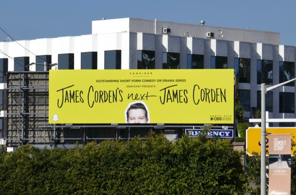 Next James Corden 2018 Emmy FYC billboard