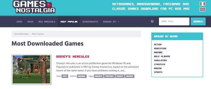 GamesNostalgia - Απίθανη ιστοσελίδα με εκατοντάδες παλιά παιχνίδια