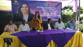 Pre-candidata  presidencial del PLD Maritza Hernández promete gobierno con ética y transparencia