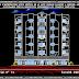 مشروع عمارات سكنية R+5 مع محلات تجارية اتوكاد dwg