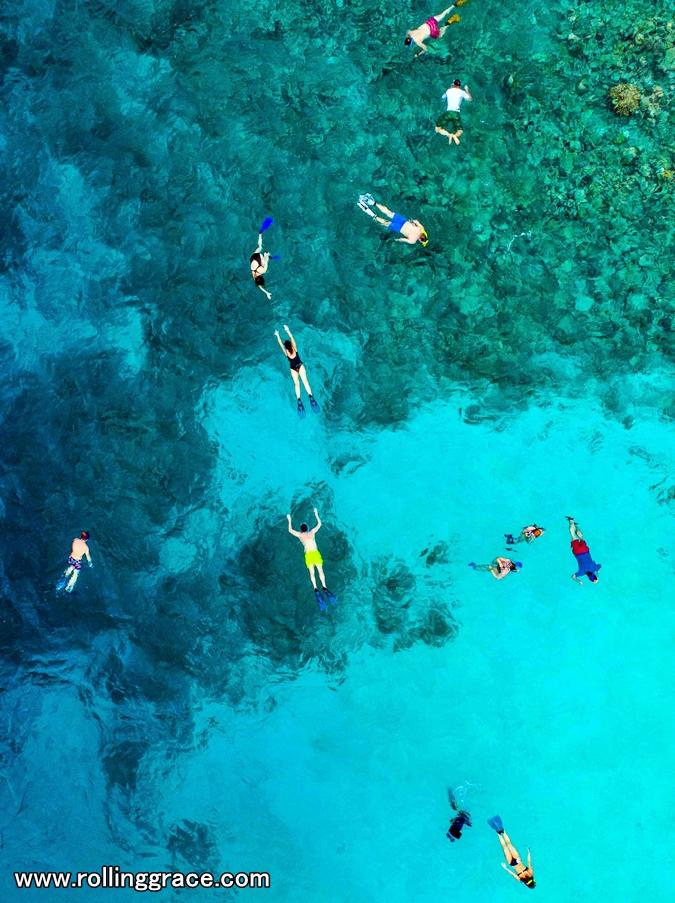 snorkeling at Pulau Mabul