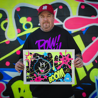 Bomb Dropper Glow in the Dark Edition Screen Print by Sket One x 1xRUN x POW! WOW! Hawaii