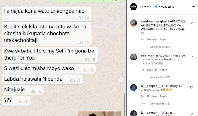 Chats showing how Harmonize slept with Paula and Frida photo