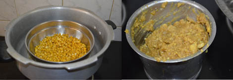 preparing poornam for kozhukattai