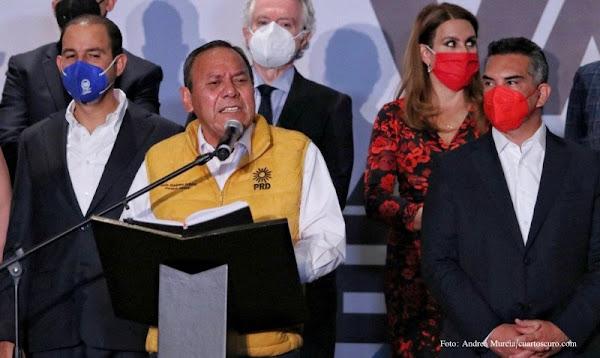 No daremos ningún diputado a Morena, responden PRI, PAN y PRD al flojo de  AMLO