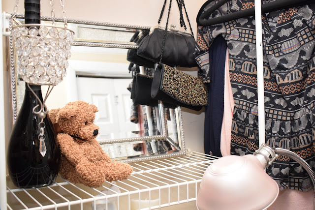 JoFer Interiors, How to Organize a Small Closet Space adding thrifty items