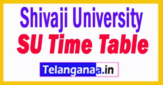 Shivaji University SU Time Table 2018