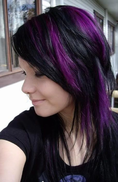 Remarkable Black Amp Purple Hairstyles A Gorgeous Combination Hairstyles For Women Draintrainus