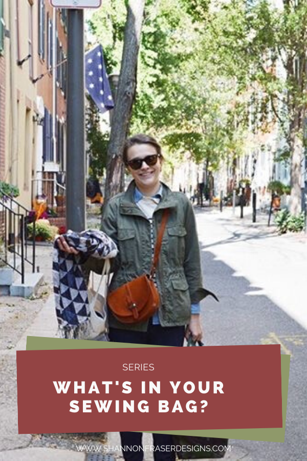 Amanda from Broadcloth Studio | What's in Your Sewing Bag? | Shannon Fraser Designs #quilters #sewingbag #sewingkit #travelbag