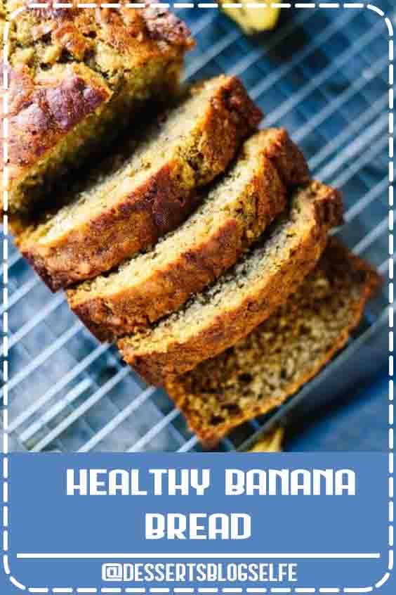 This healthy banana bread is naturally sweetened with maple syrup. With only a few simple ingredients, you're one bowl away from the best banana bread ever! #DessertsBlogSelfe #cookieandkate #bananabread #naturallysweetened #healthyrecipe #wholegrains #HealthyDesserts