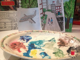 watercolor painting, drawing, paint pallette
