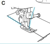 union dos telas puntada elastica