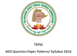 TSPSC AEO Model Question Paper 2016 Syllabus in telugu