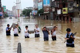 Latest flooding In China