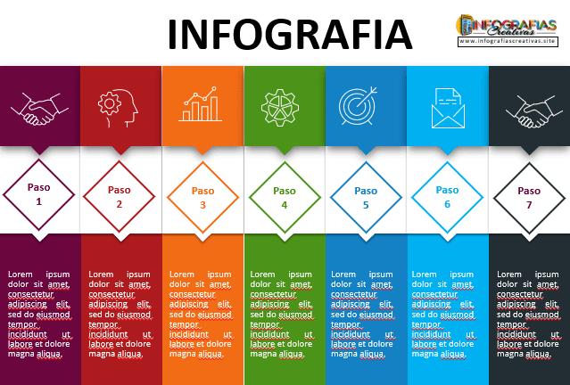 Infografía en PowerPoint editable Plantilla de proceso 25