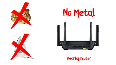 No Metal nearby Router
