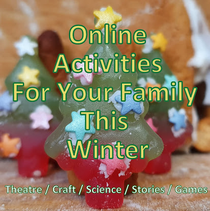 Online activities for your family this Winter jelly sweet tree with stuck on sugar stars
