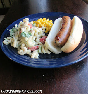 Country Fair Blog Party Blue Ribbon Winner: Cooking with Carlee's Ultimate BLT Pasta Salad