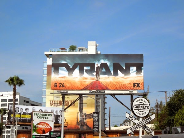 Tyrant series launch billboard Sunset Strip