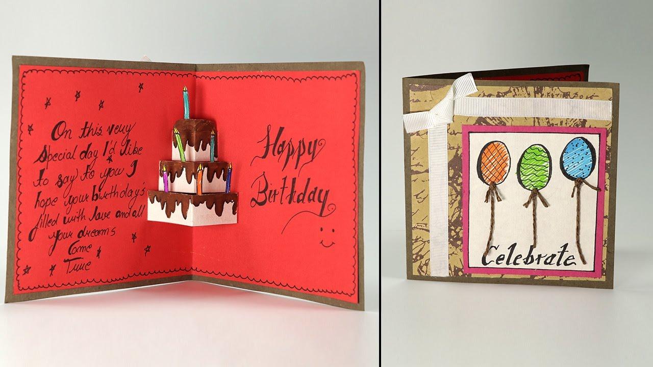 Phenomenal Handmade Birthday Greeting Cards Diy Handmade Birthday Card Ideas Funny Birthday Cards Online Alyptdamsfinfo