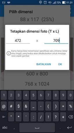 Mengubah Ukuran Foto ke Pixel