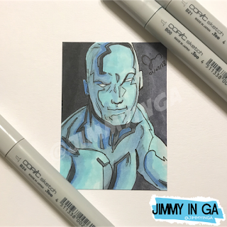 "Iceman - Copic Markers on 2.5"" x 3.5"" Sketch Card"
