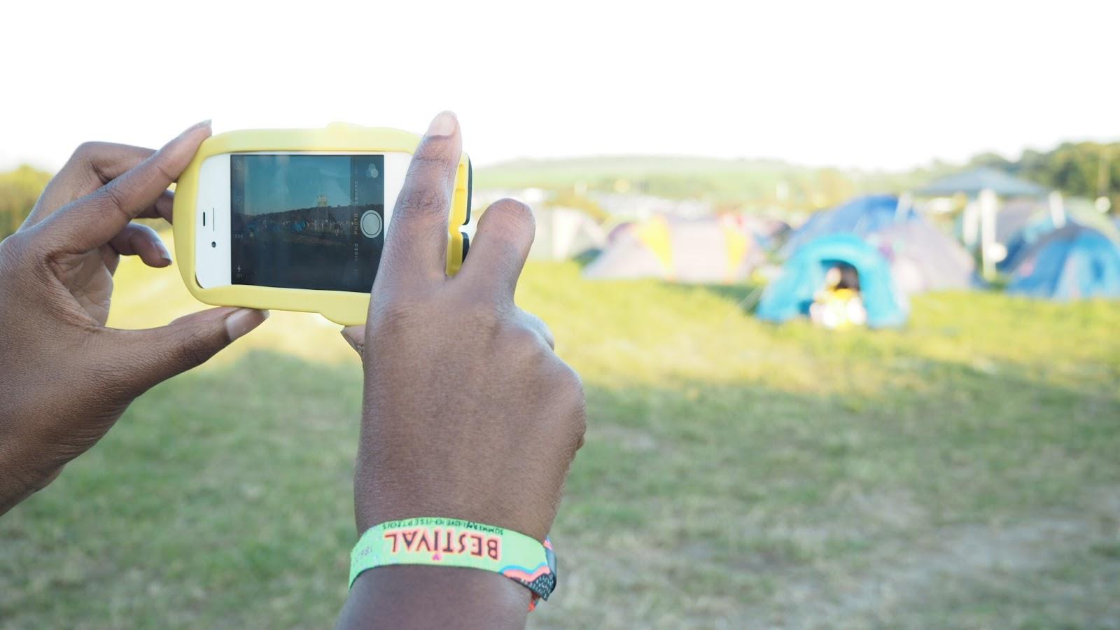 Bestival campsite view