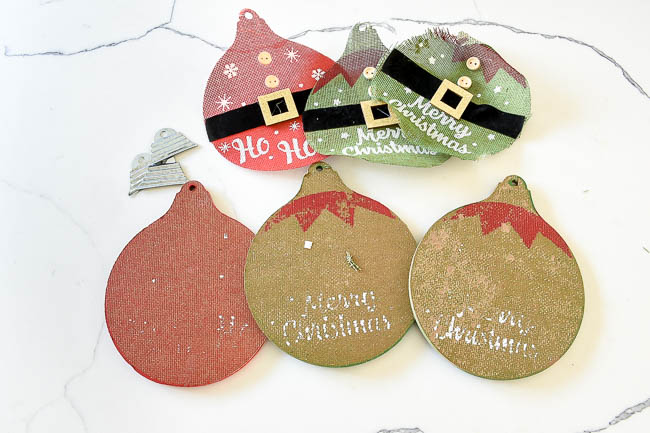Decorations removed from Dollar Tree ornaments