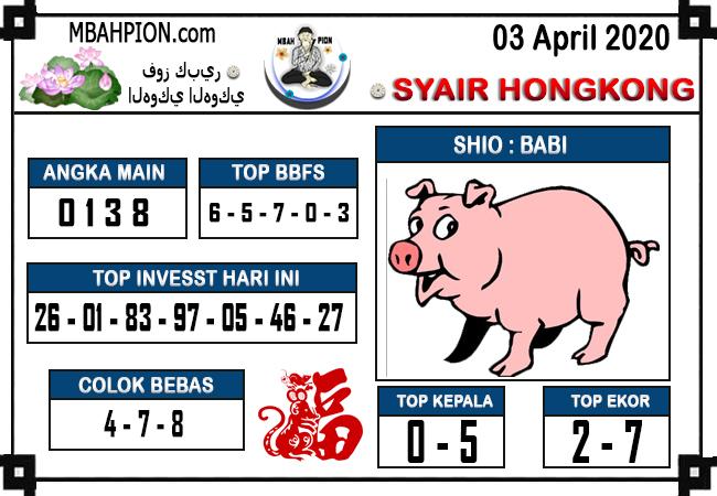 Prediksi HK Malam Ini Jumat 03 april 2020 - Syair Mbah Pion