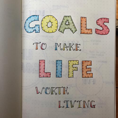 Bullet journal goals
