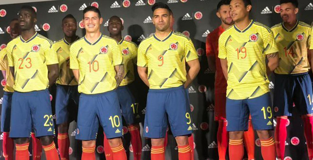 Colombia COPA AMERICA 2019 Home Shirt 2019-20 DUVAN#7 Official Name Number Set