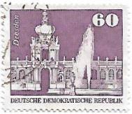 Selo Palácio Zwinger em Dresden, 1974