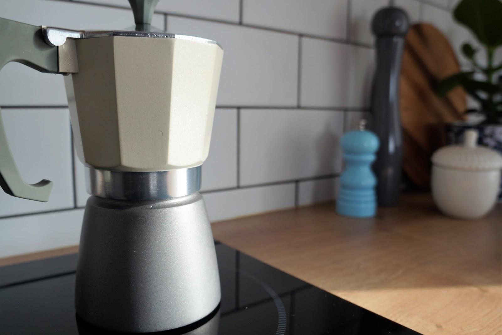 pastelowa kawiarka, kawiarka na indukcję DUKA