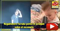 Reguetonero Farruko perdió el peluquín sobre el escenario