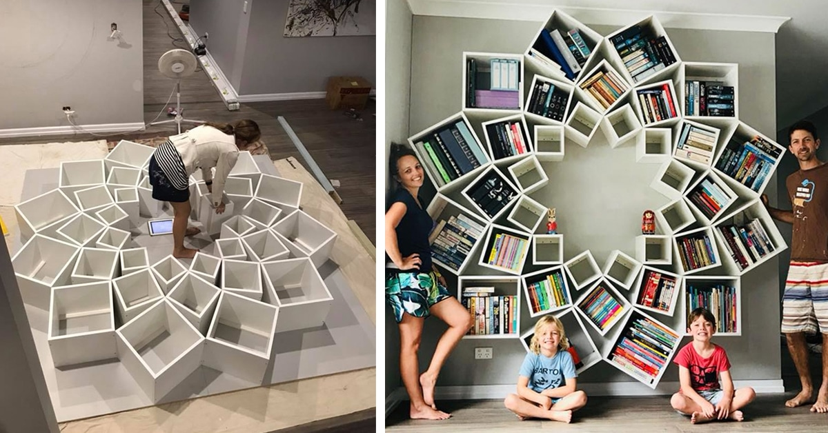 Couple Builds An Amazing DIY Bookshelf That We Want In Our House Right Now