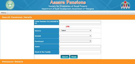 తెలంగాణ ఆసరా పెన్షన్లు అర్హత గలవారు  Telangana Assara Pensions Scheme Eligible Details