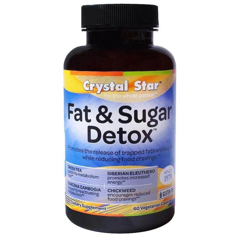Crystal Star, Детокс жир и сахар, 60 вегетарианских капсул