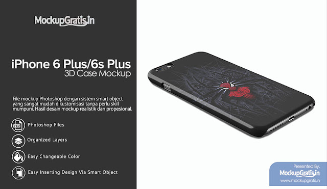 Mockup Custom Case iPhone 6 Plus / 6s Plus Gratis