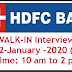 HDFC Walkin interviews at Hyderabad