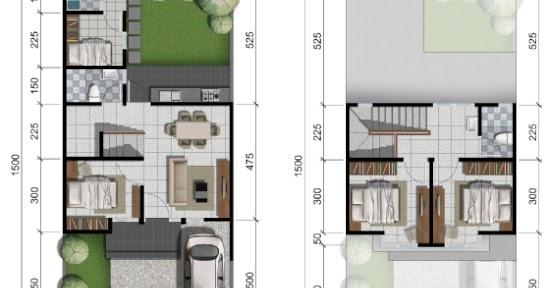 Desain Kamar Tidur Minimalis Ukuran 5x4  lingkar warna 2 denah rumah minimalis ukuran 7x15 meter 4