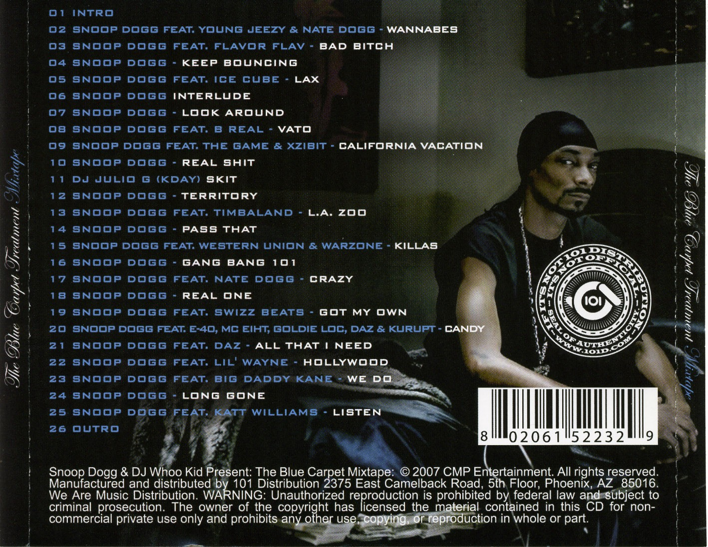 Snoop Dogg The Blue Carpet Treatment Digipack Analysis Jack