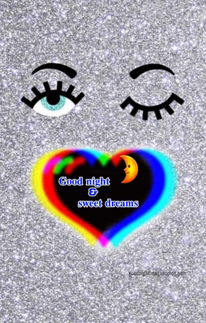 Cute Good Night Images With Heart