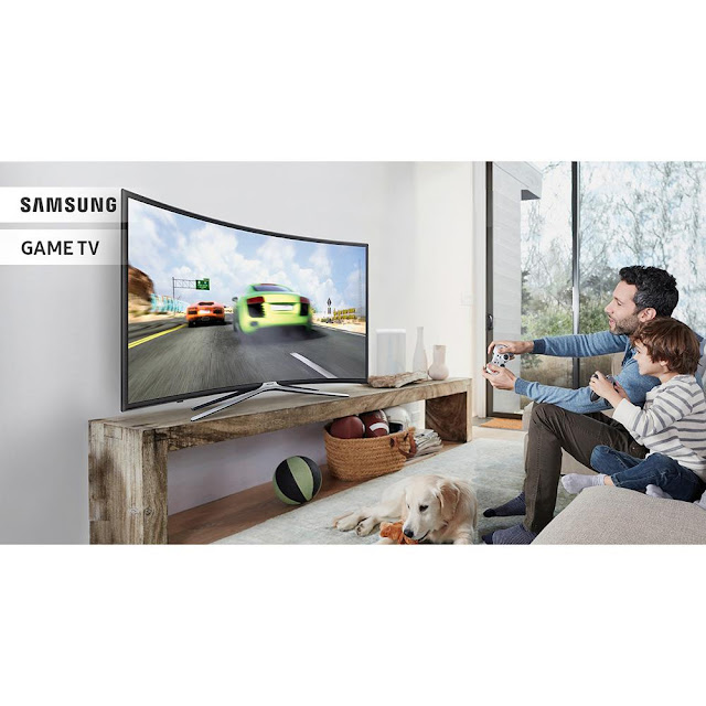 "Lojas Americanas Smart TV Games LED 49"" Samsung Full HD Curva com Conversor Digital 3 HDMI e 2 USB Conectividade Smartphones Wi-Fi 60Hz"