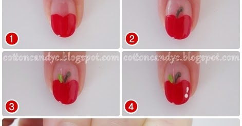 Cotton Candy Blog Cute And Easy Apple Nails Back To School How To