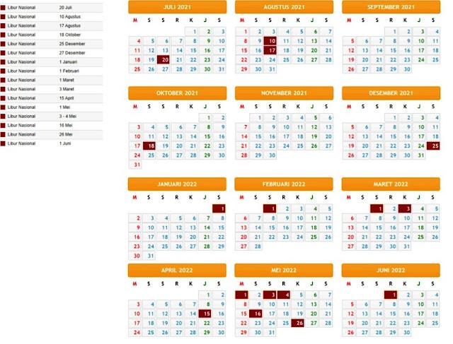 Terbaru Kalender Pendidikan Tahun Pelajaran 2021/2022 Provinsi Yogyakarta