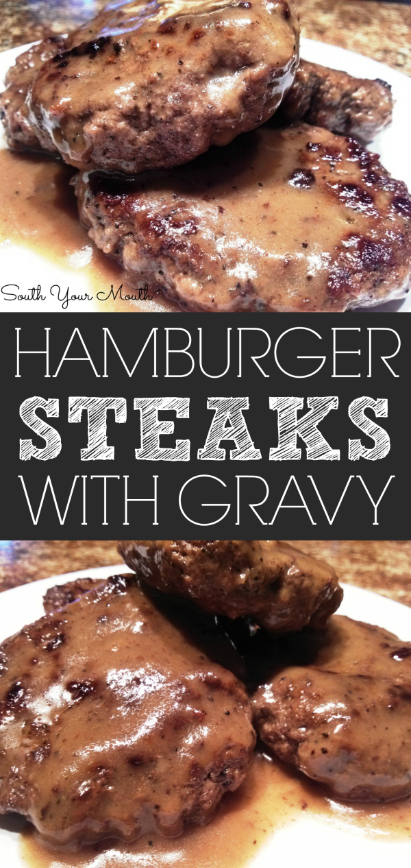 The BEST recipe for Hamburger Steaks made from fresh ground beef with an easy, homemade brown gravy.
