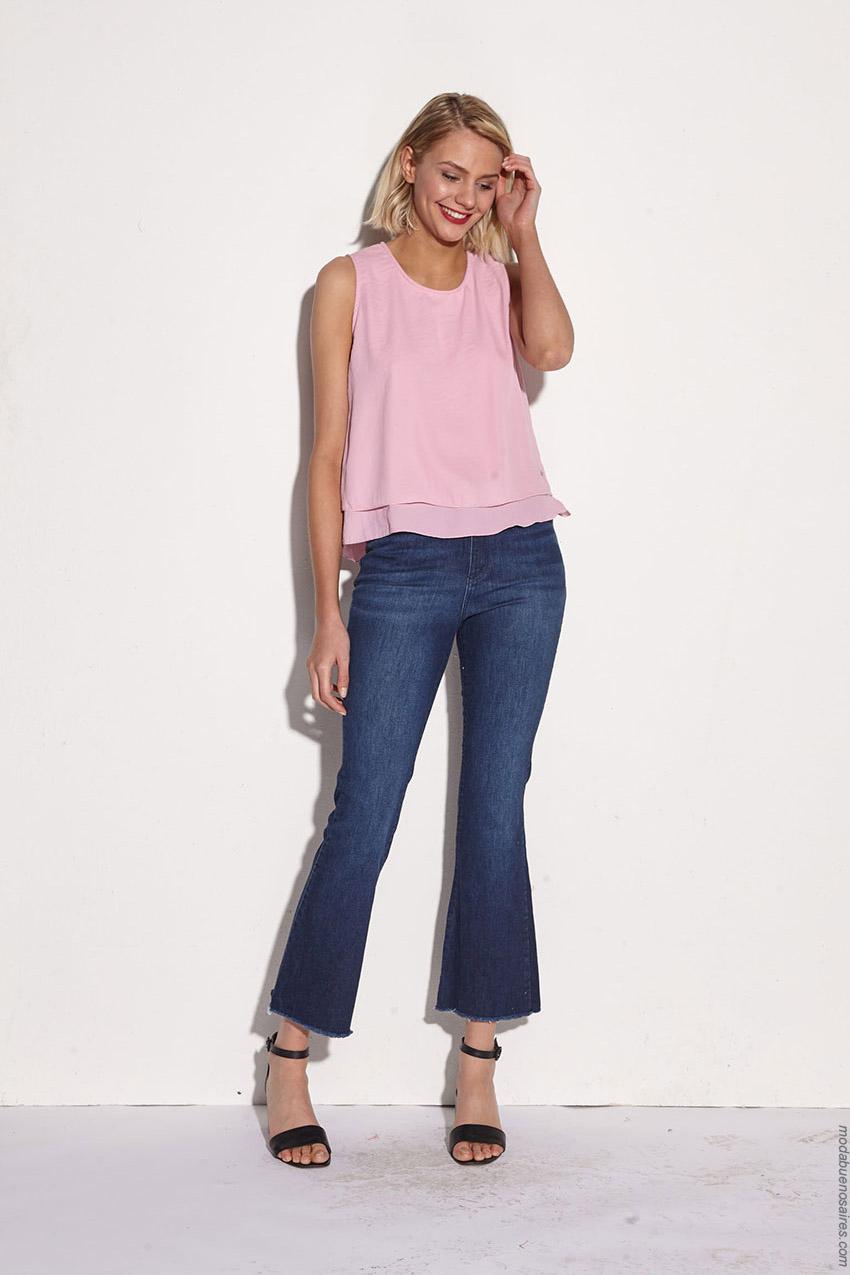 Moda jeans de mujer primavera verano 2020.
