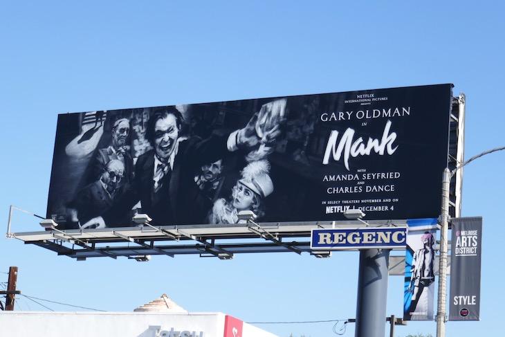 Mank film billboard